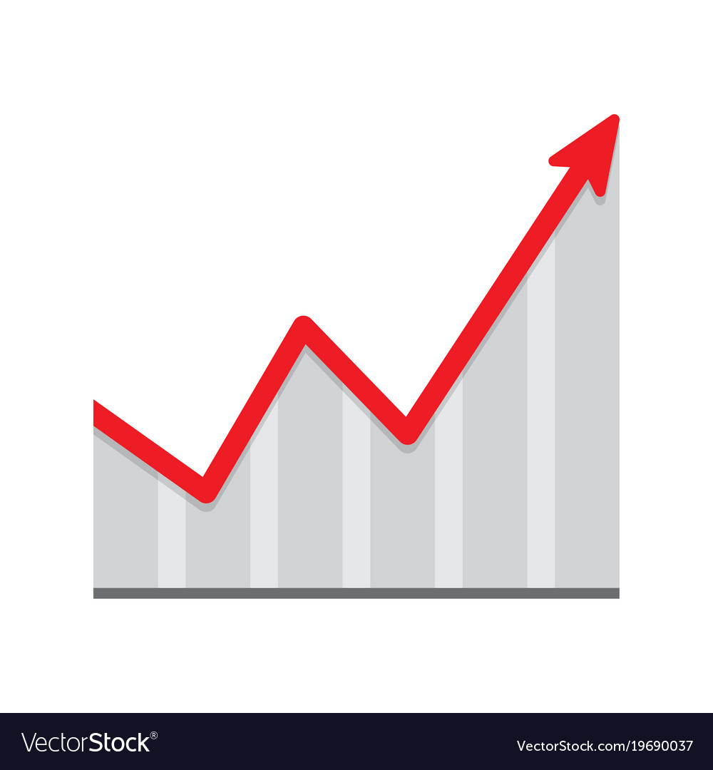 Financial growth infographic chart icon