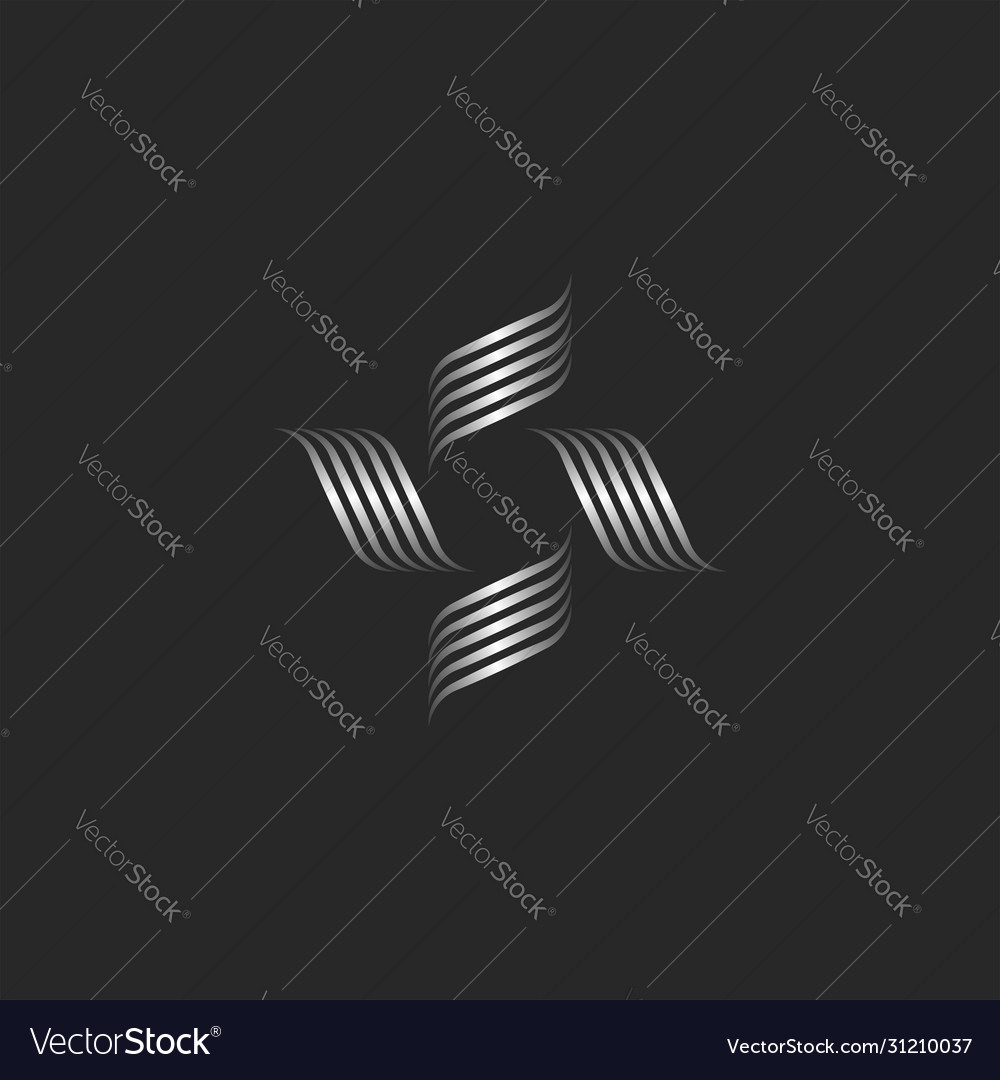 Flower logo monogram boutique or spa feminine