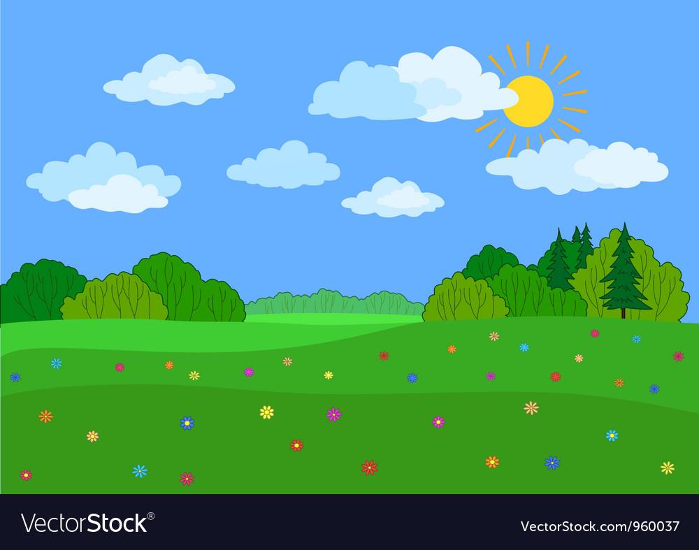 Landscape summer day