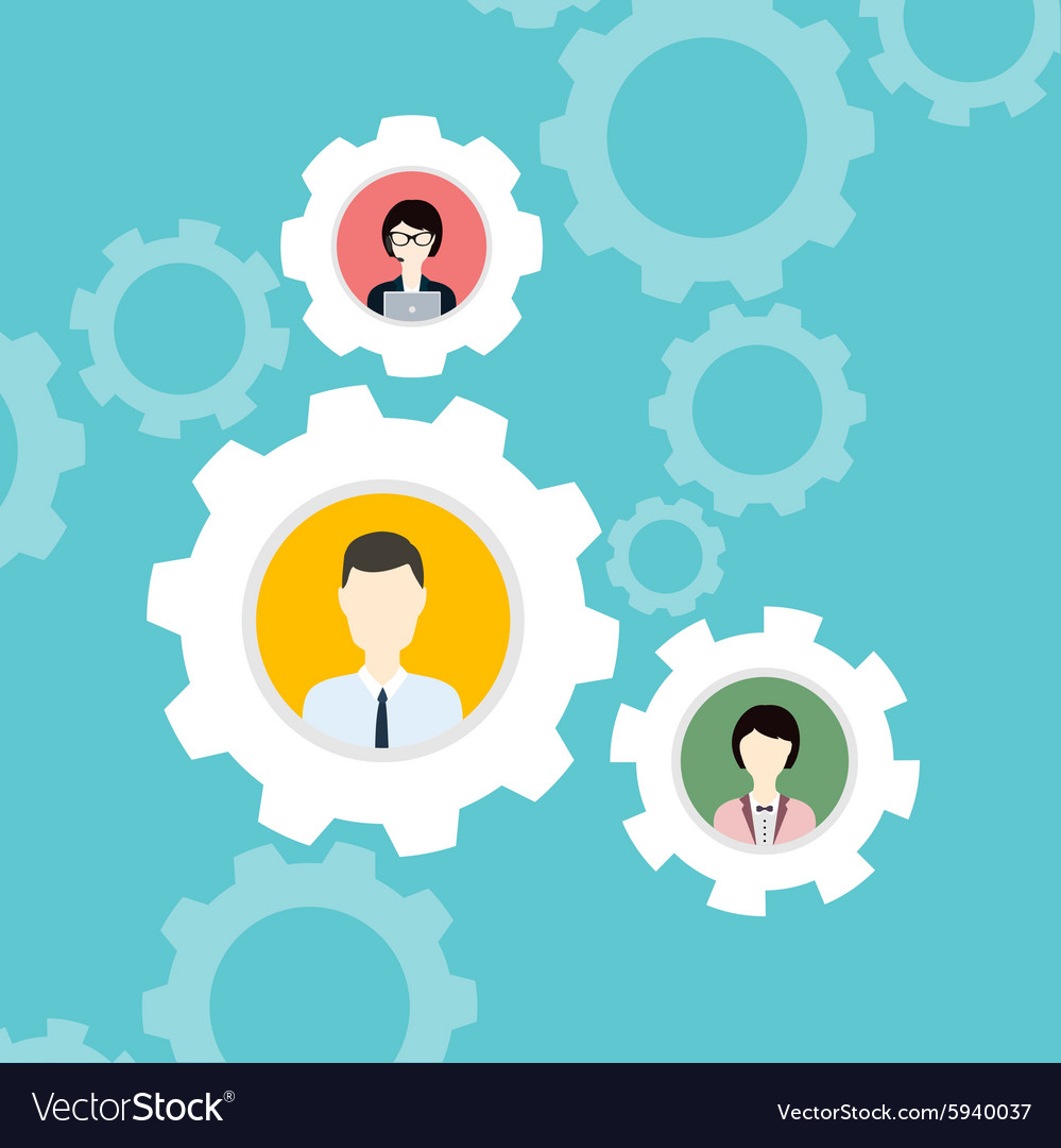 Modern Business Concept The idea of teamwork and