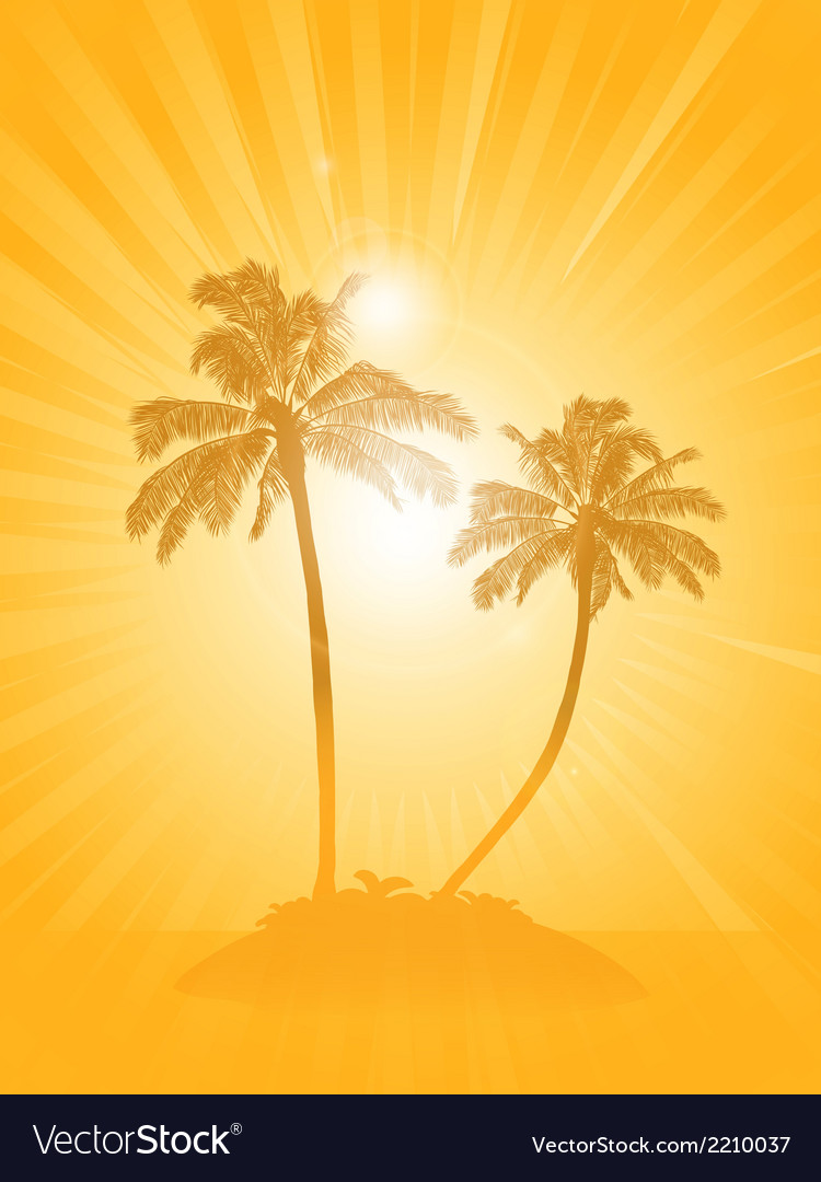 palm tree silhouette background royalty free vector image