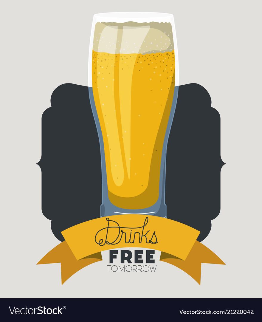 Beer Drink Fresh Frame Royalty Free Vector Image
