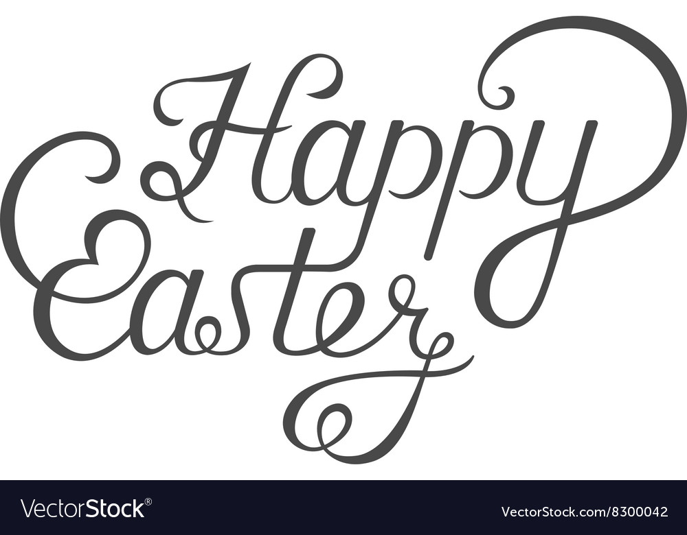 Lettering for greeting cards happy easter