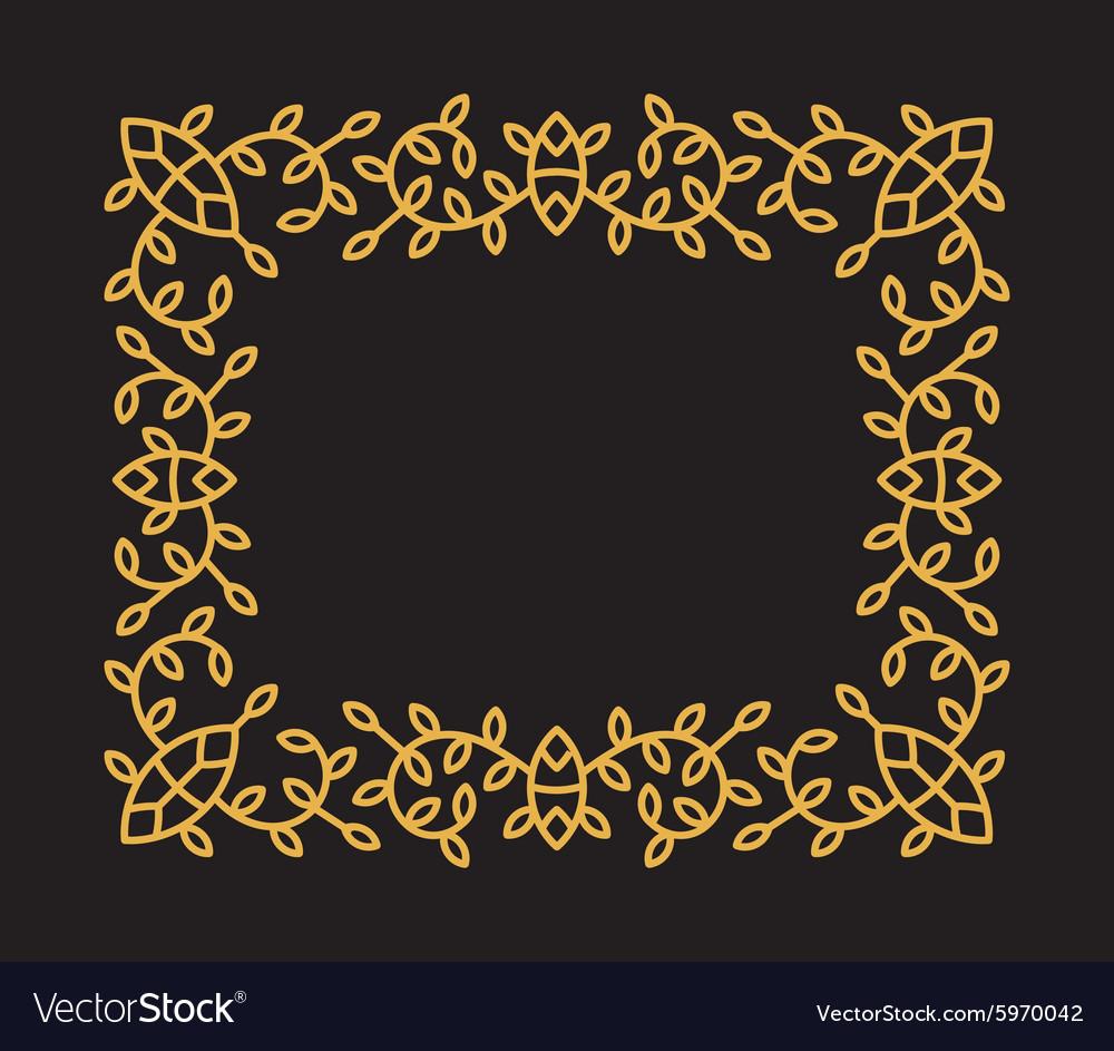 Monogram frame in trendy mono line style