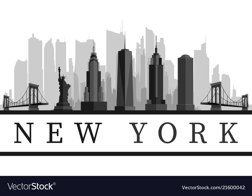 New York Usa Skyline Royalty Free Vector Image