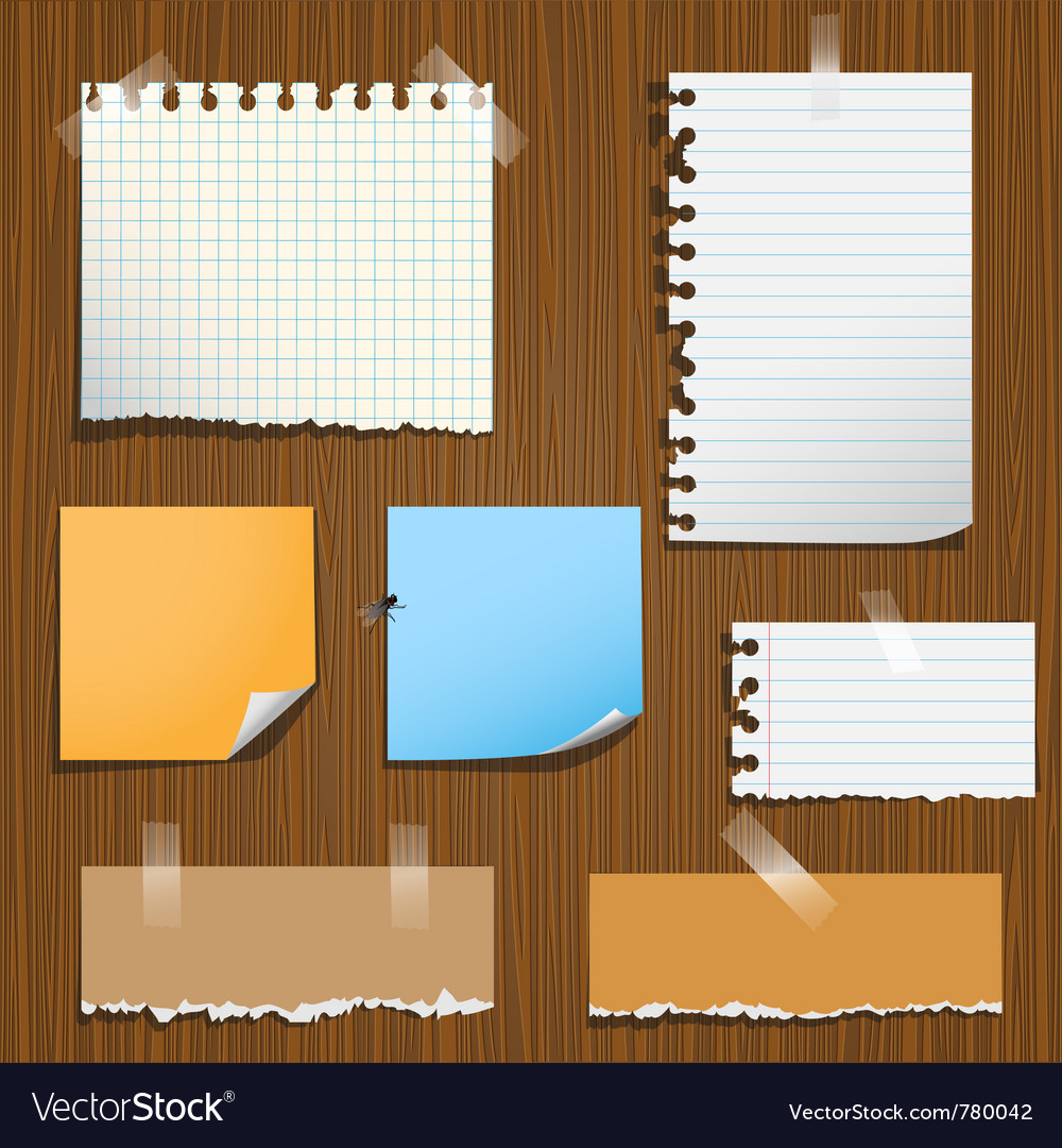 Notes paper vector image