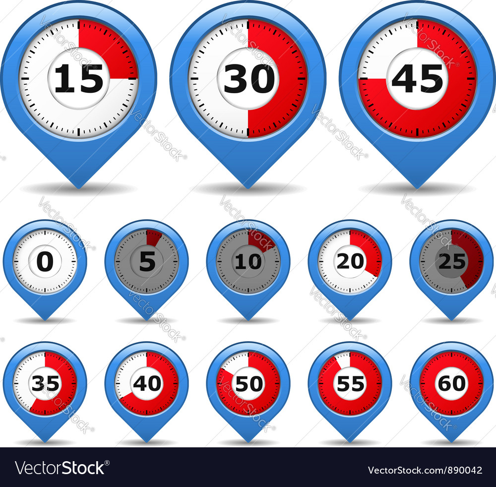 Pointers with timers vector image