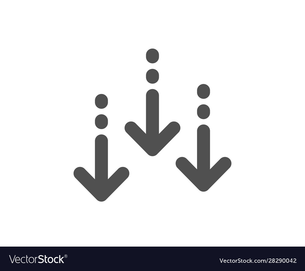 Scroll down arrow icon scrolling screen sign