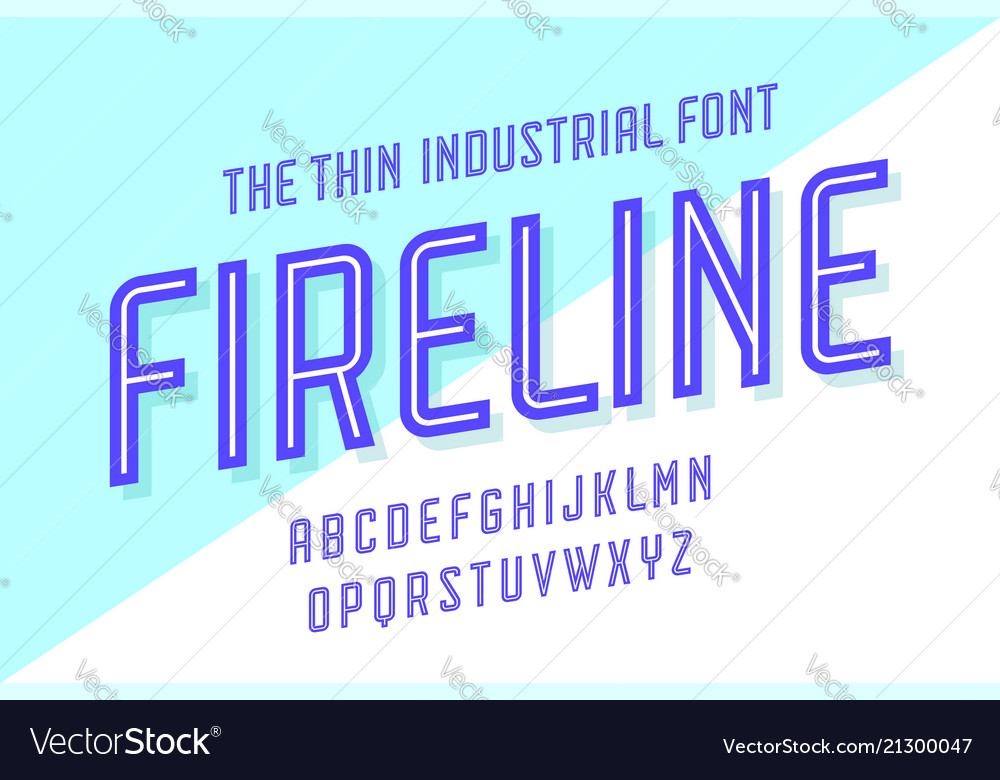 Alphabet and font fire line