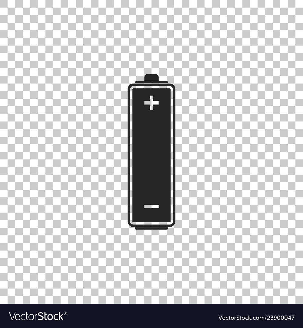 battery icon isolated on transparent background vector image vectorstock