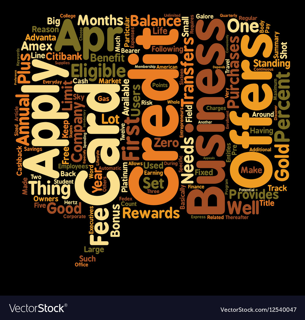 Business credit card offers galore text background business credit card offers galore text background vector image reheart Image collections