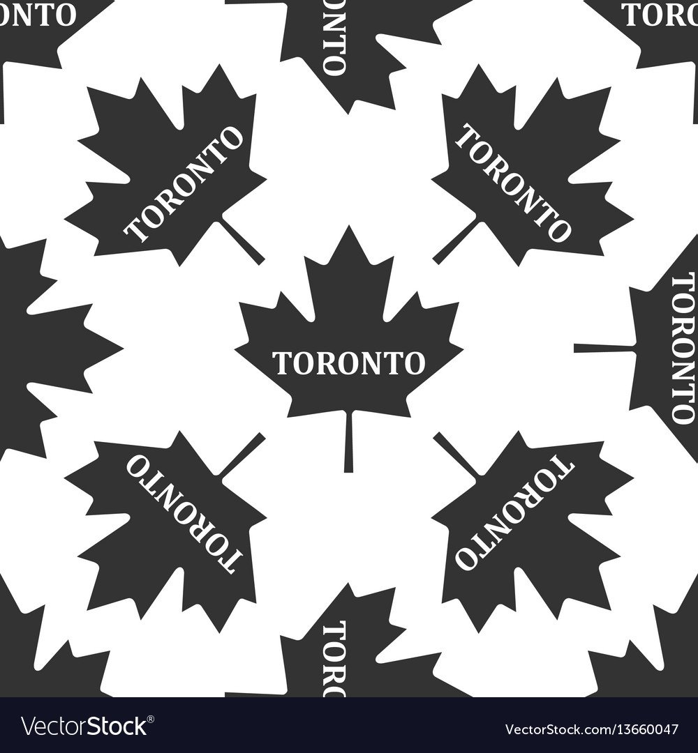 Canadian maple leaf with city name toronto icon