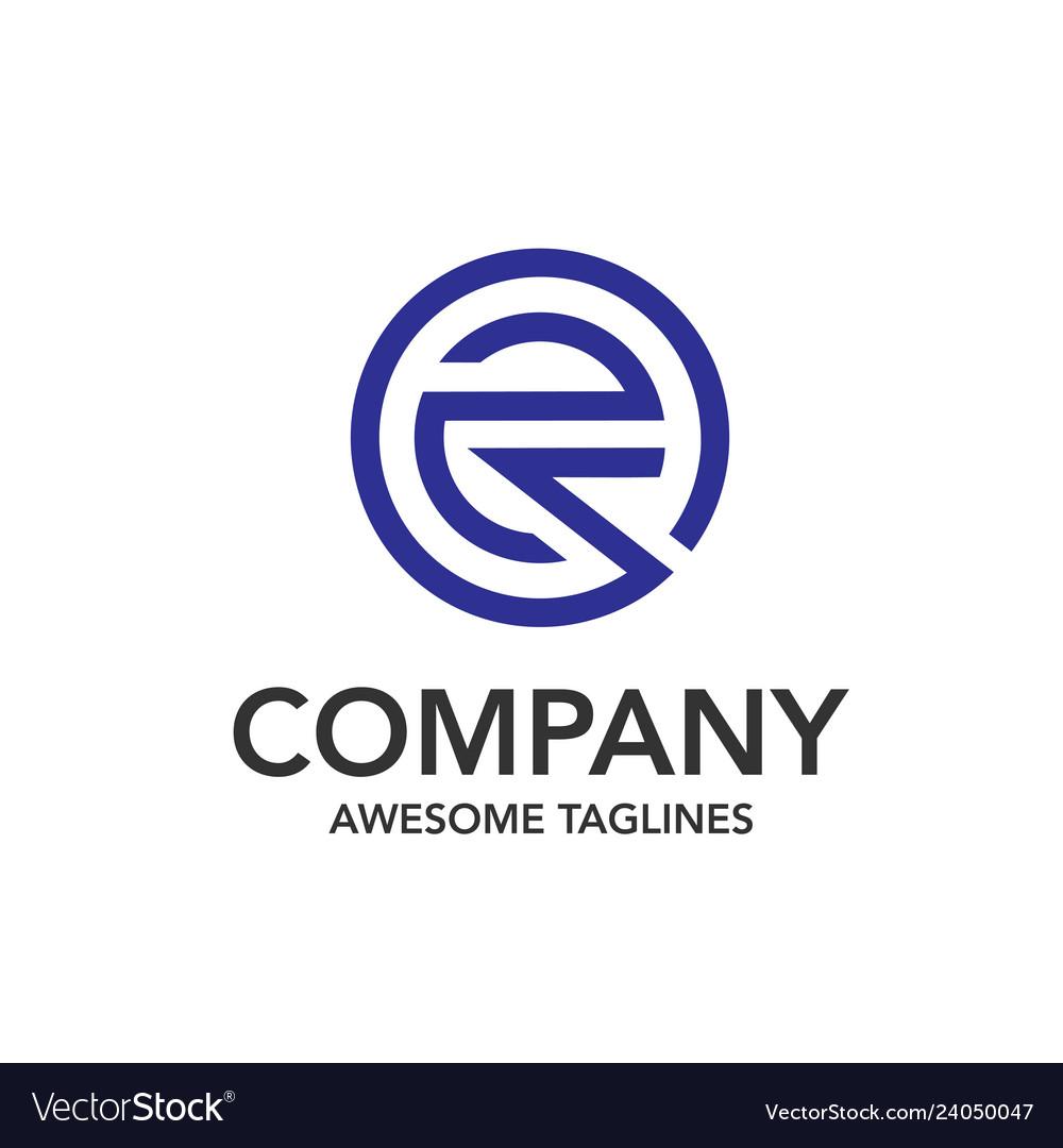 Creative initial letter e circle color logo
