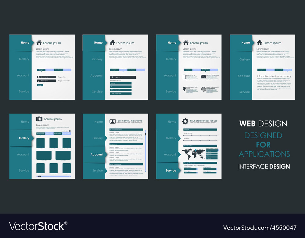 Design of a flat interface vector image
