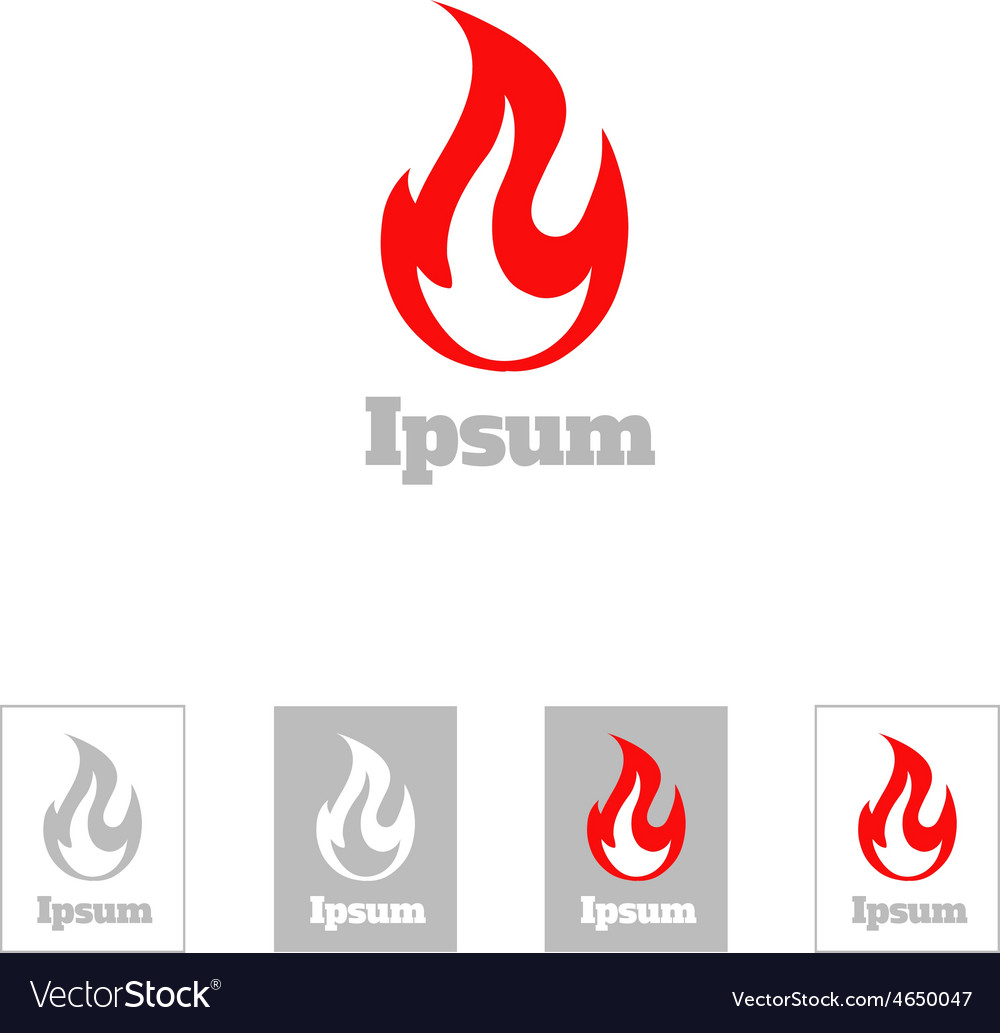 Fire flame logo design template Corporate