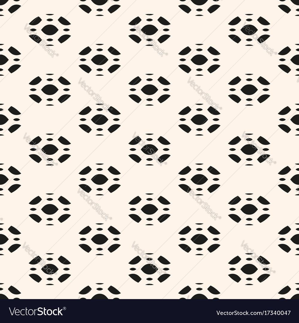 Floral ornament texture geometric shapes vector image