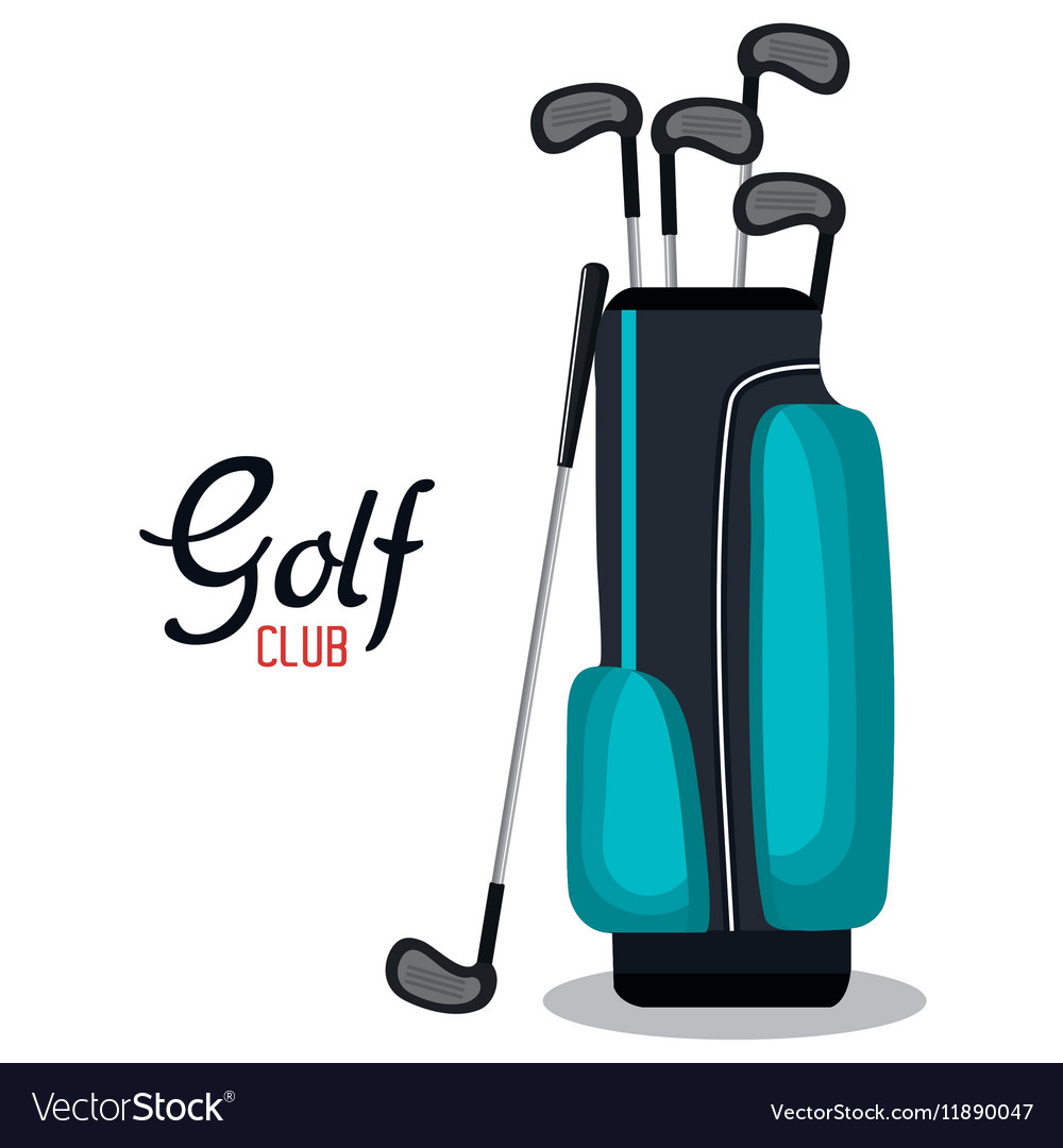 Golf club sport icon