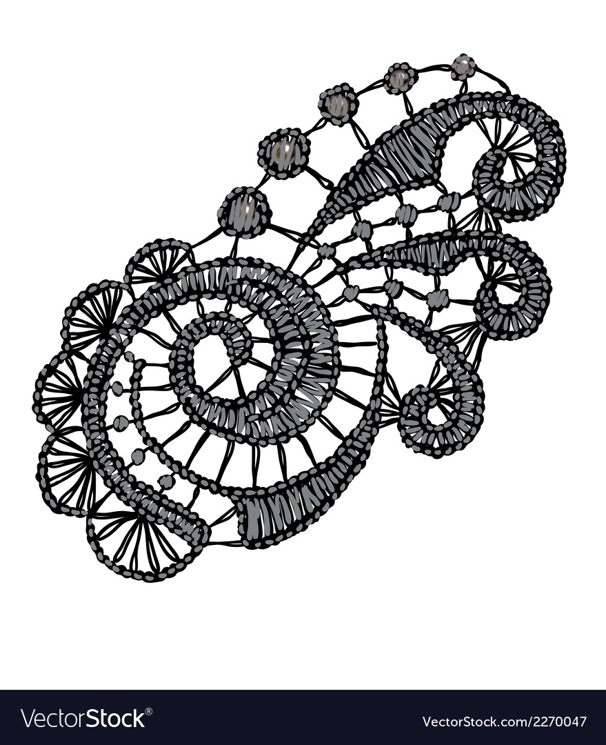 Openwork lace Realistic