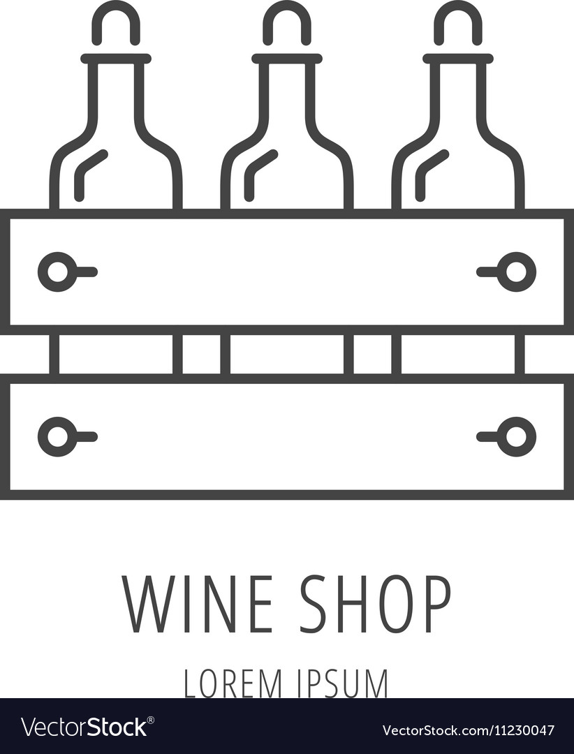 Simple Logo Template Wine Shop vector image