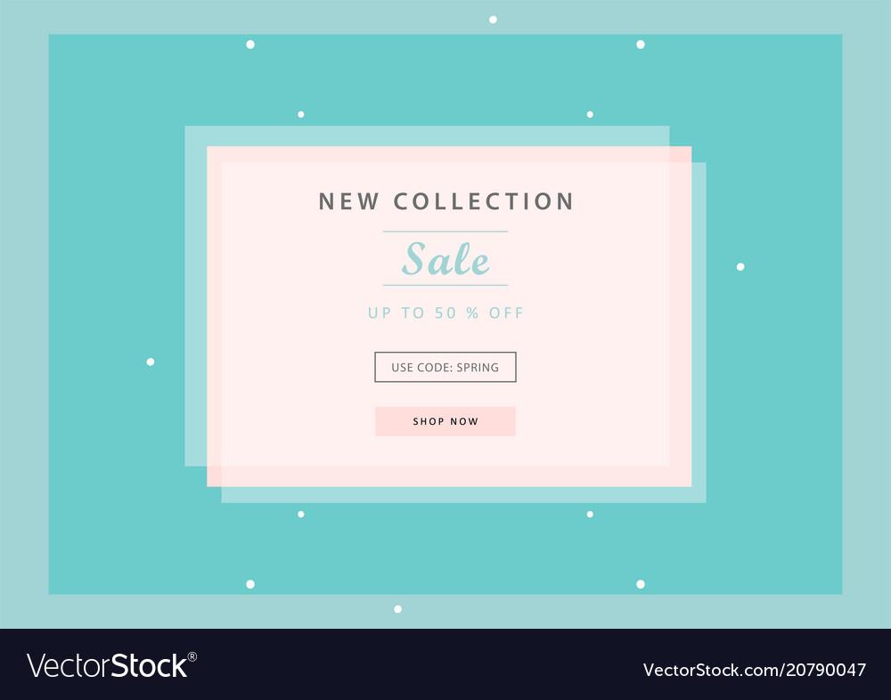 Trendy sale banner design