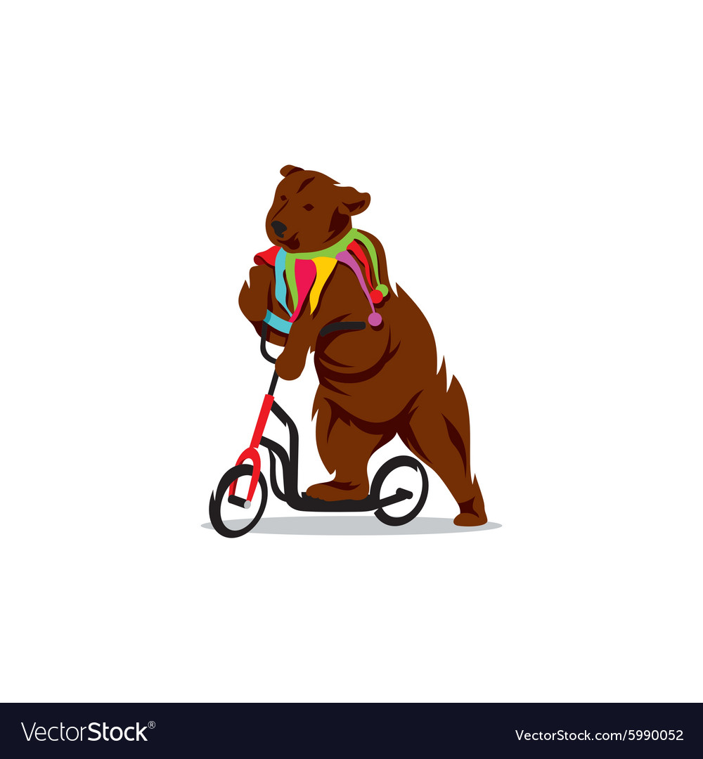 Circus bear on a bicycle