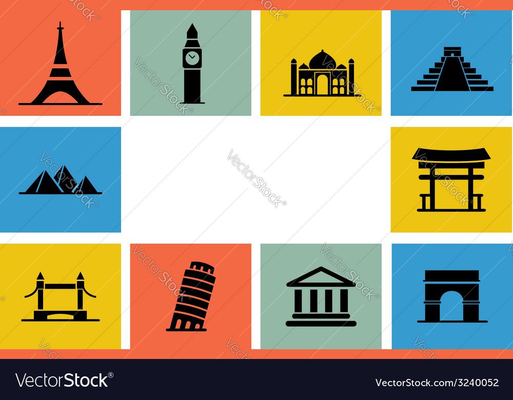 Destination Icon set vector image