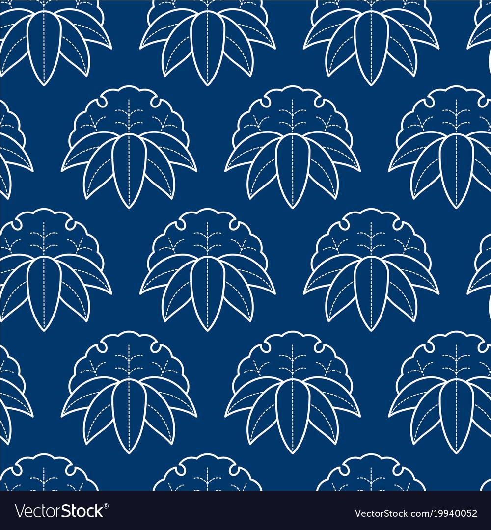 Seamless pattern japanise style sashiko