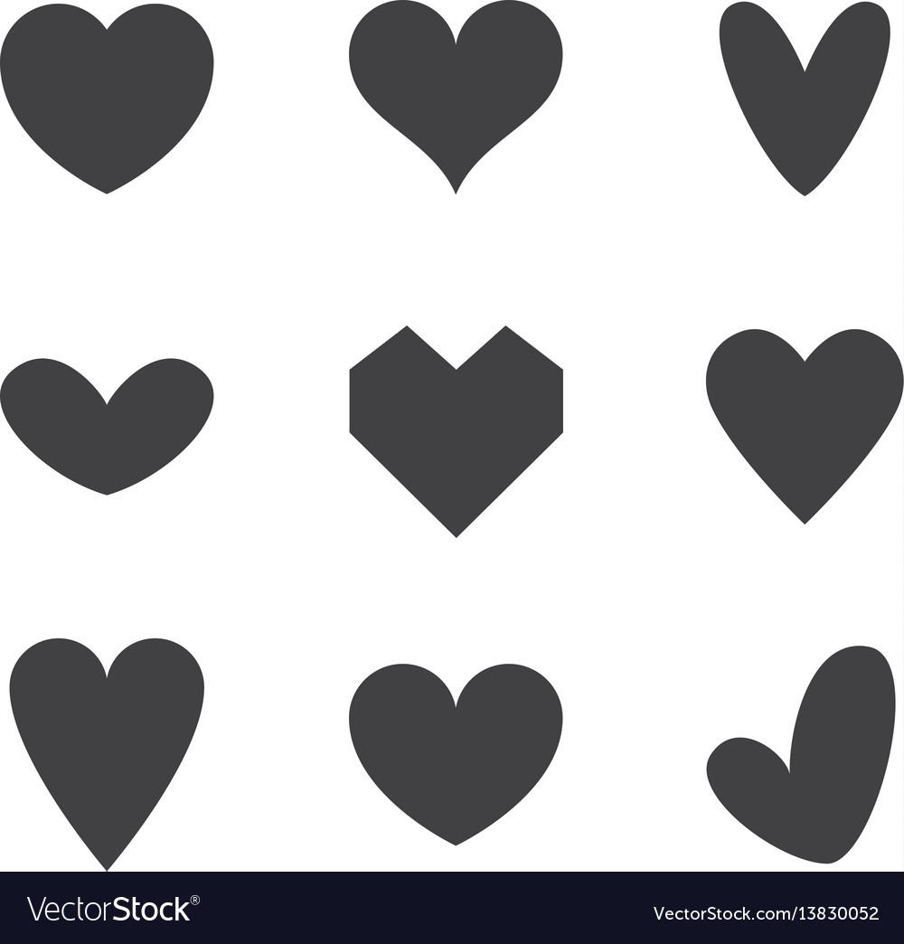 Set heart icons