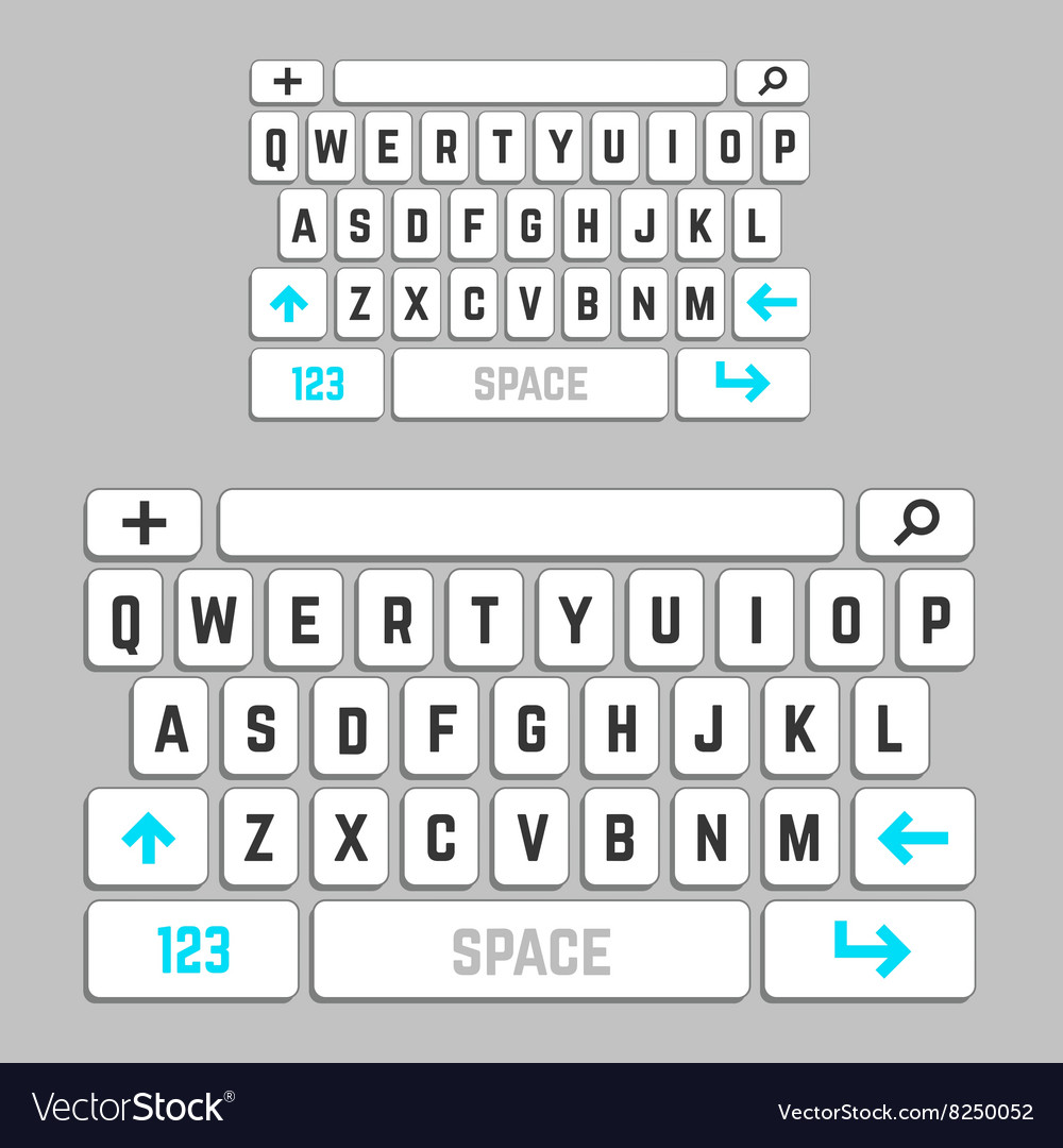 Smartphone keyboard template