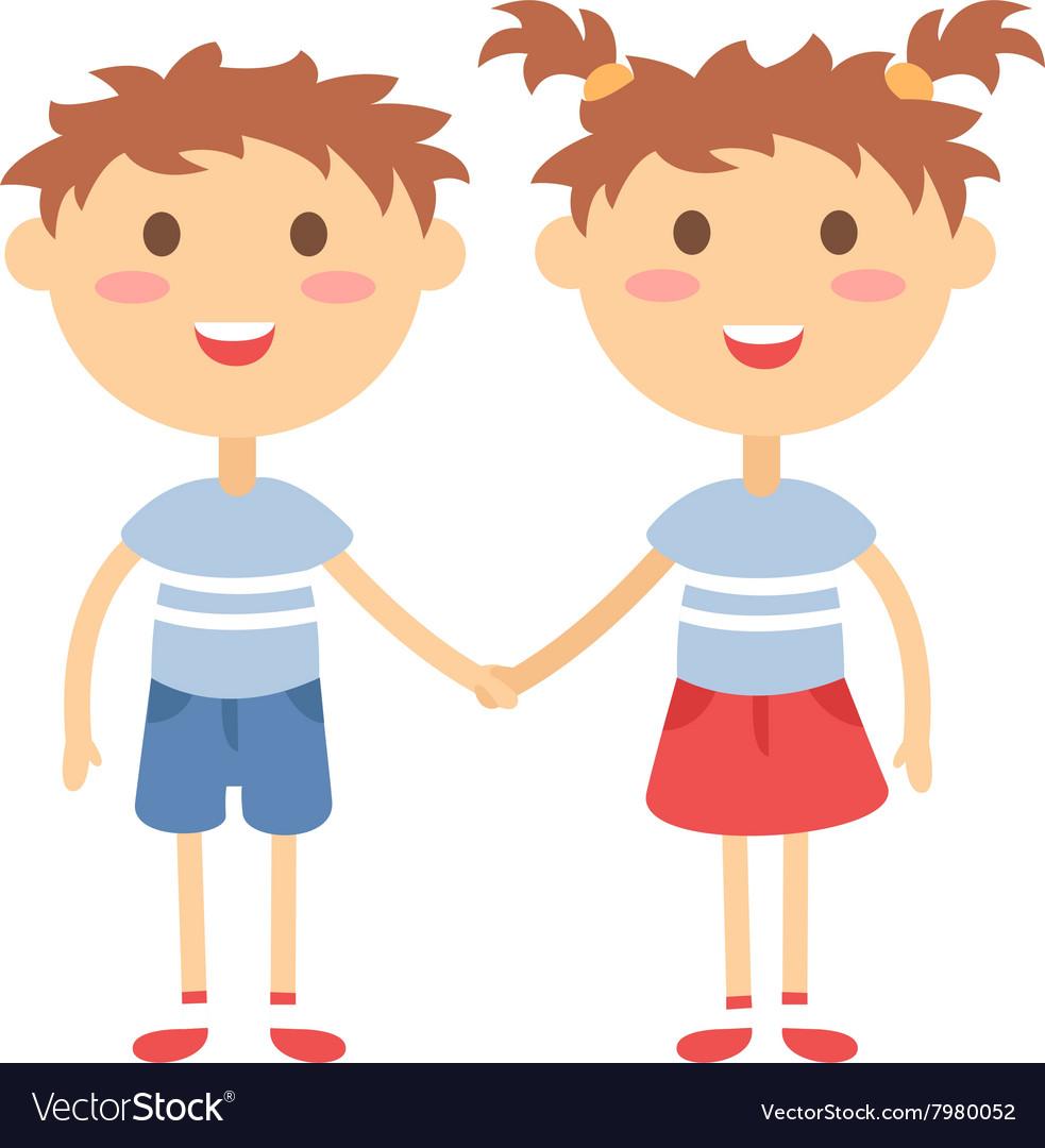 Картинки девочка и мальчик держаться за руки