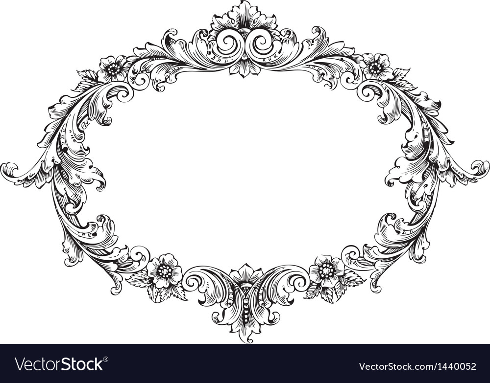 victorian frame royalty free vector image vectorstock rh vectorstock com victorian frames vector free victorian frame vector photoshop