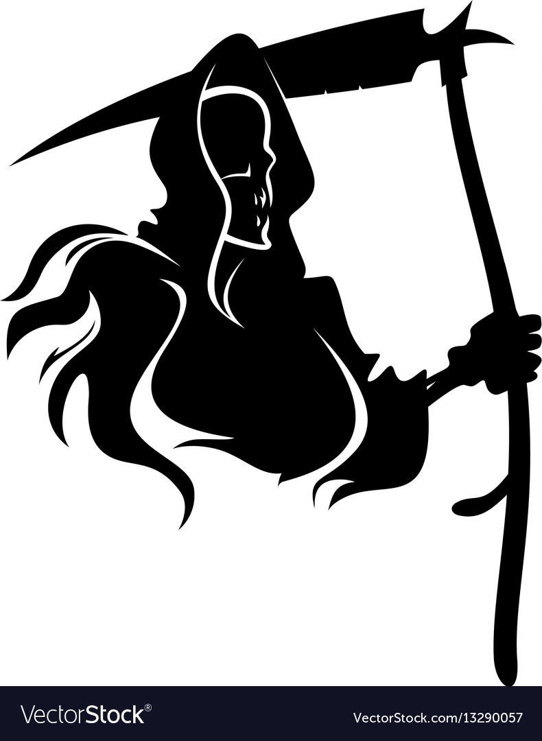 Death tattoo vector image