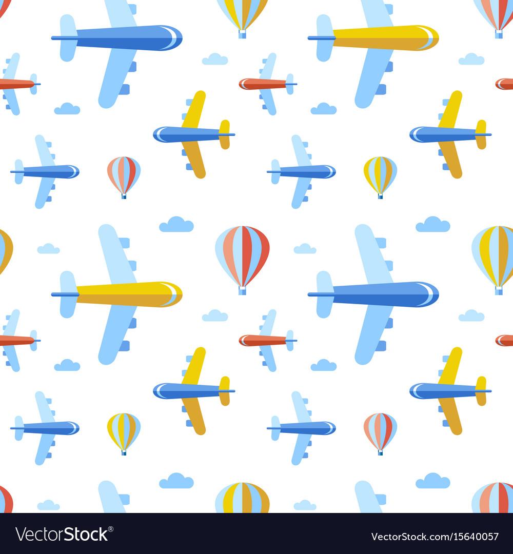 Digital blue red travel vector image