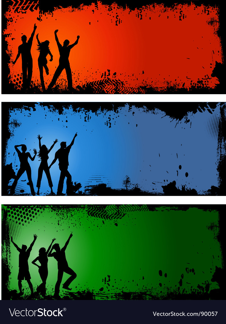 Grunge party backgrounds vector image