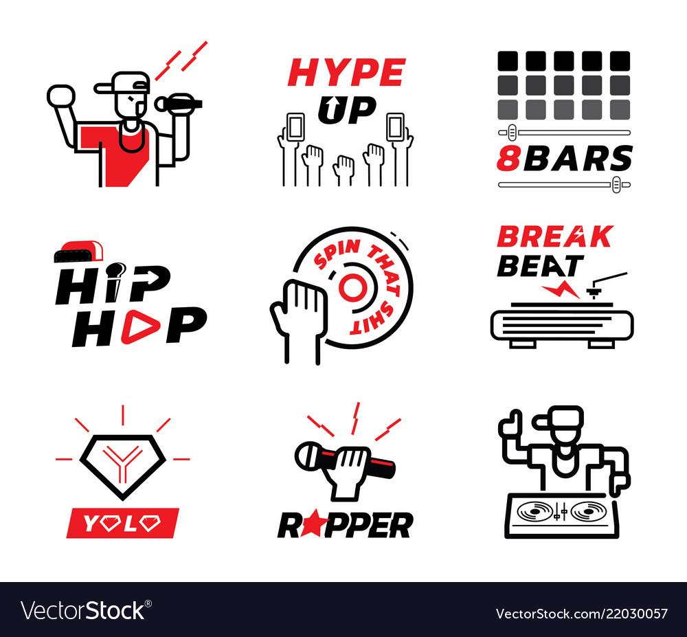 Hip Hop Music Element Vector Image