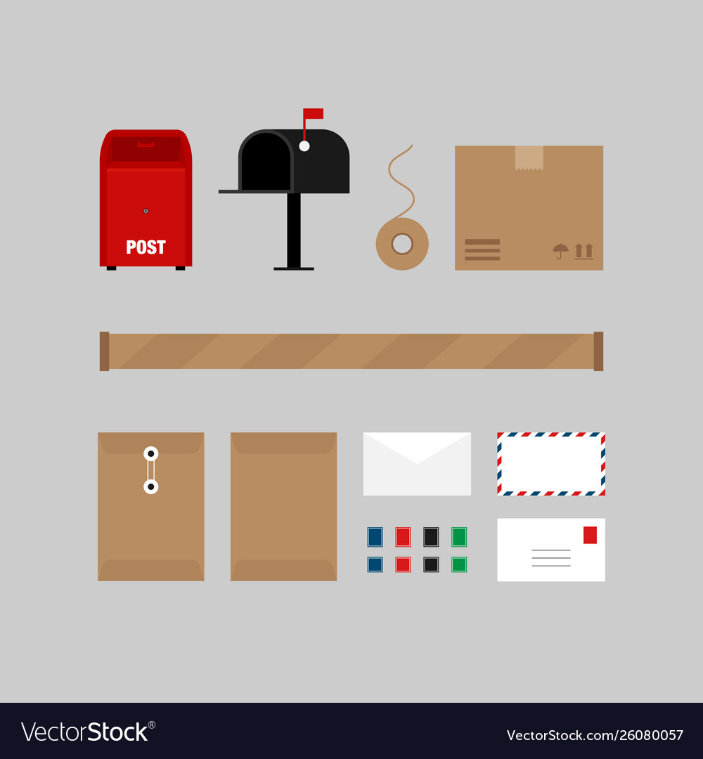 Postal communication service design elements