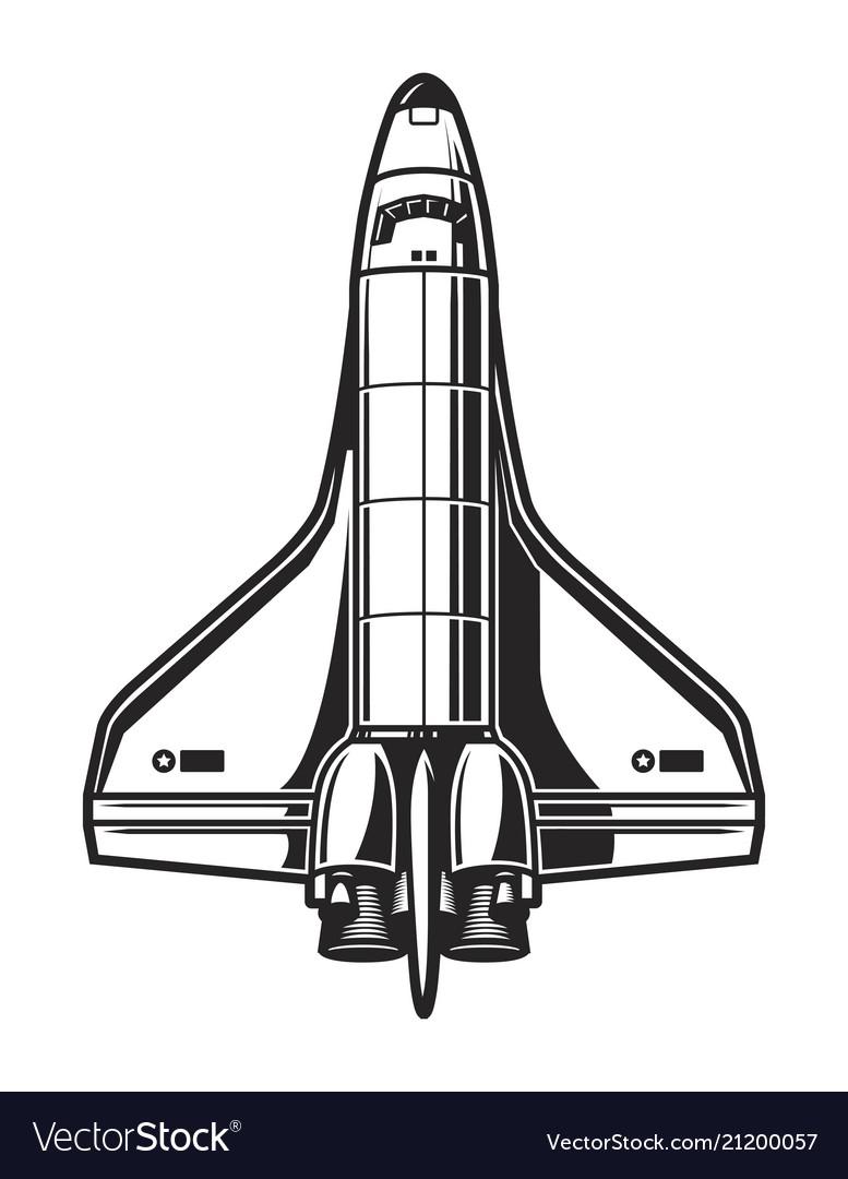 Vintage spaceship template