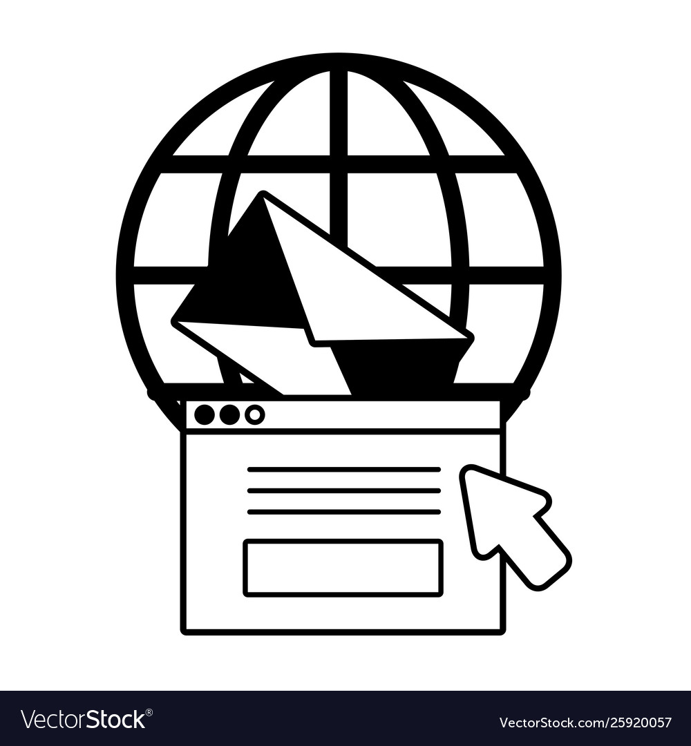 World website email message click