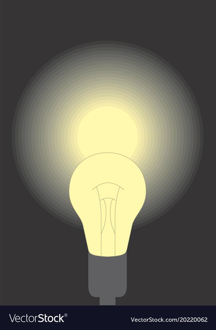 A lit lamp