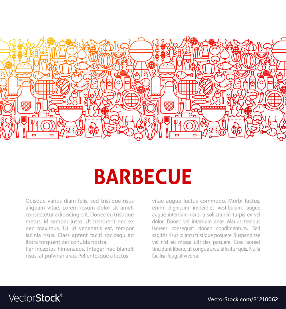 barbeque line design template royalty free vector image
