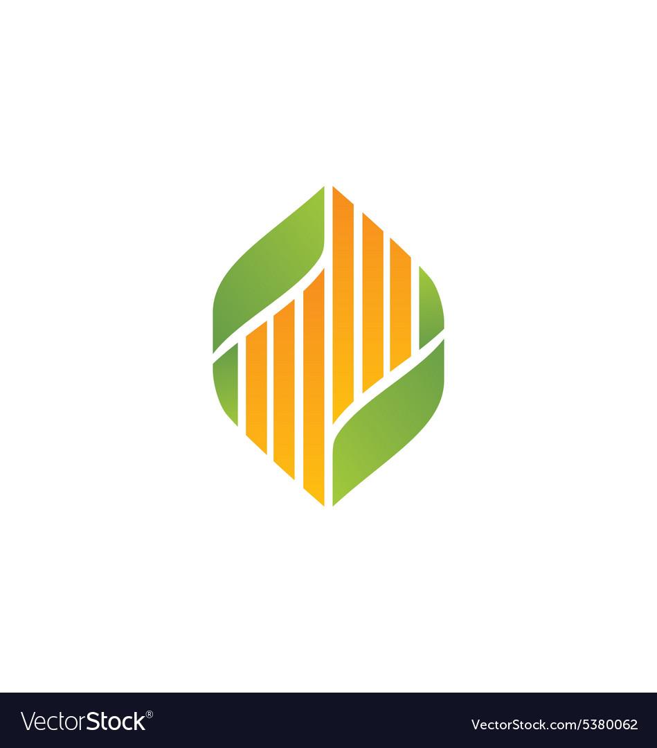 Bio ecology leaf abstract medicine logo vector image