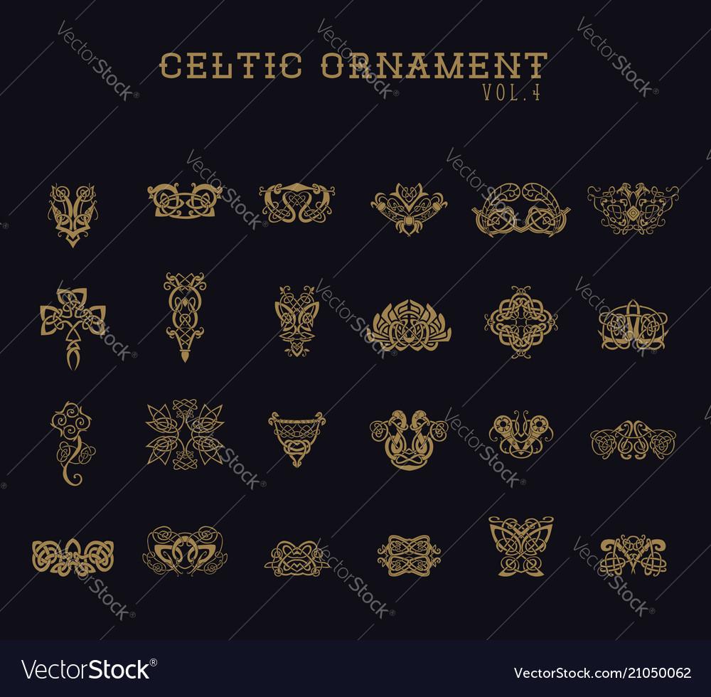 Celtic ornament collection set
