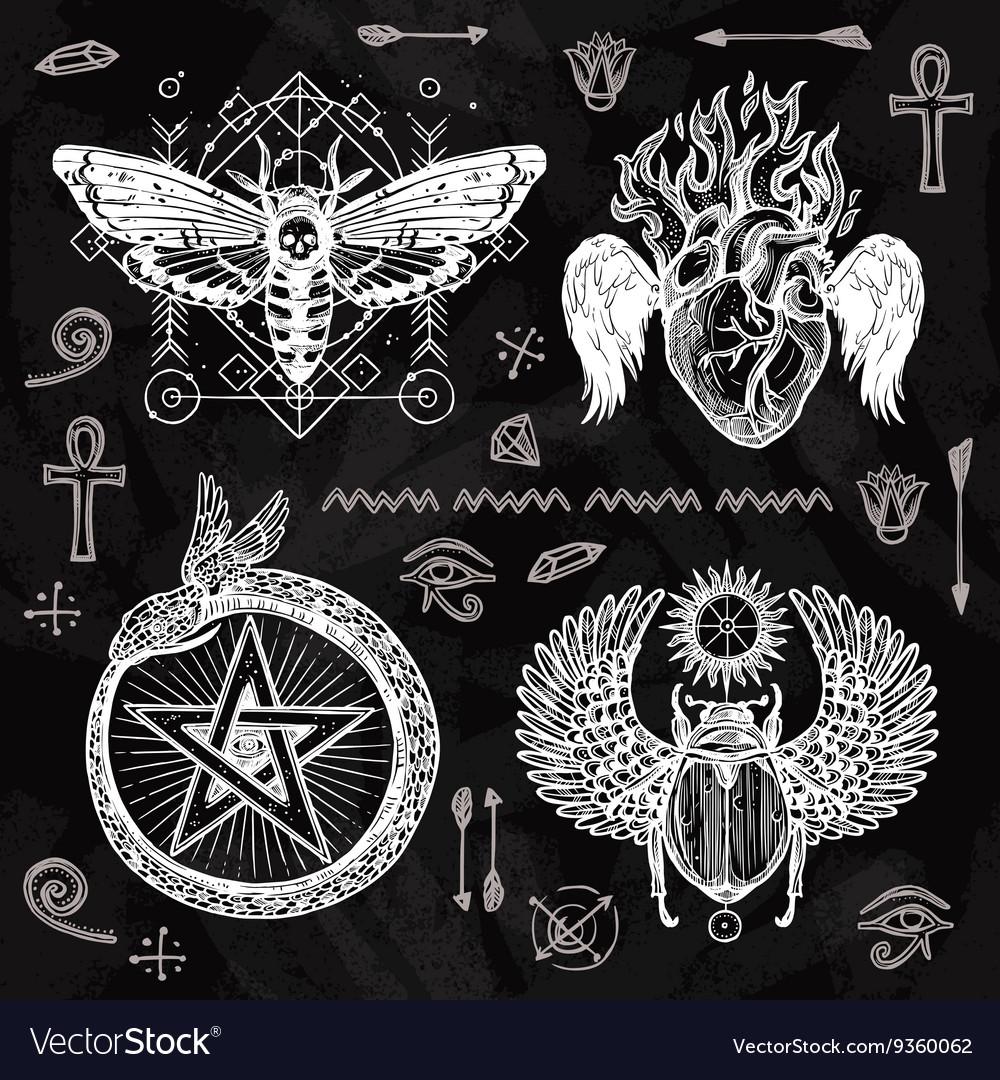 Chalkboard Tattoo Set