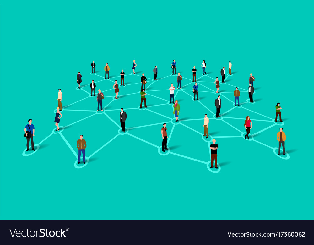 Connecting people social network concept