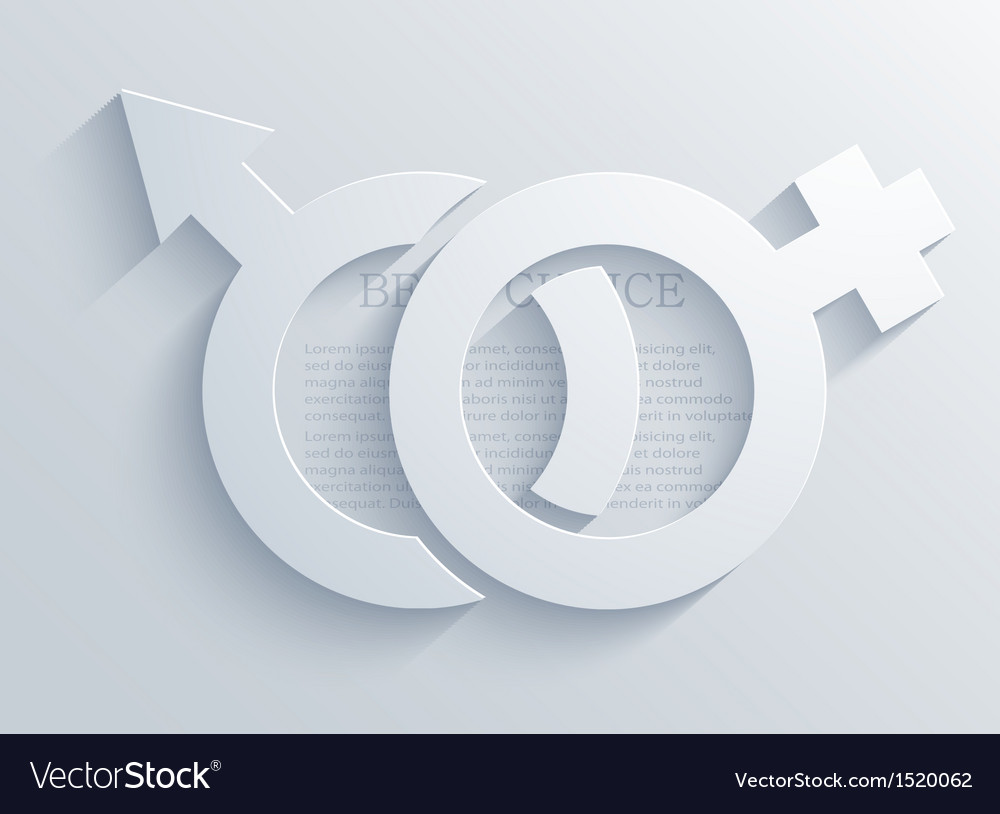 Male and female background Eps10 vector image