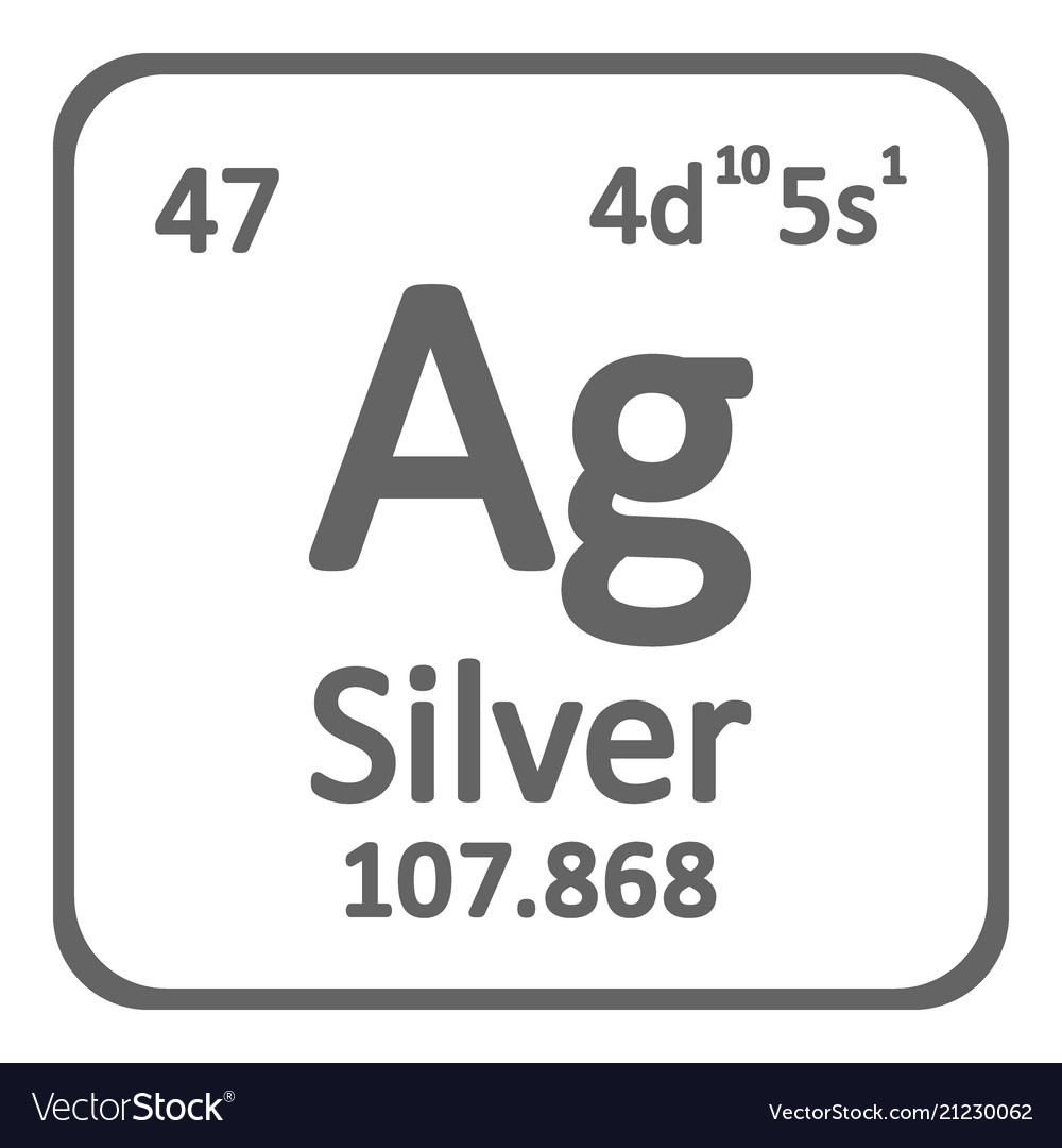 Periodic table element silver icon royalty free vector image periodic table element silver icon vector image urtaz Image collections