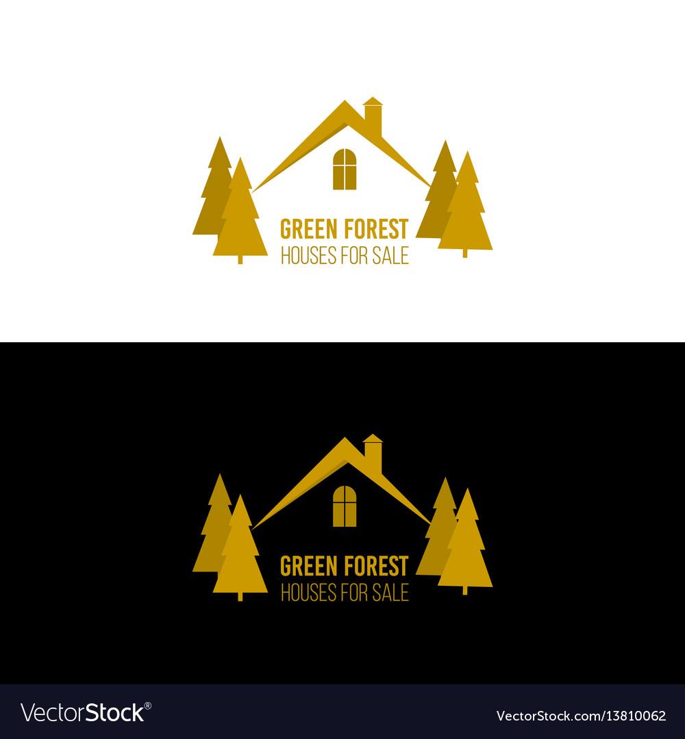 Real estate logo design house abstract concept
