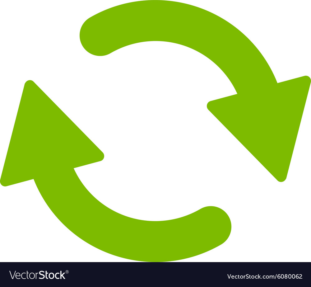 Refresh Flat Eco Green Color Icon Vector Image