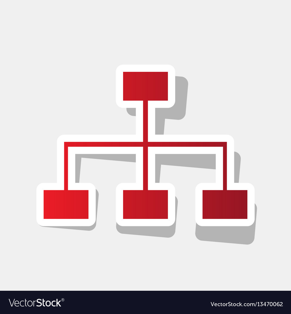 Site map sign new year reddish icon with