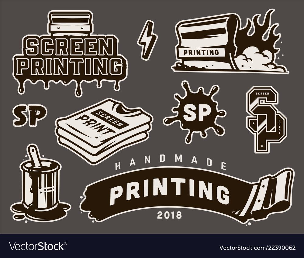 Vintage screen printing concept